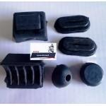 Набор резиновых деталей бардачка, бардачков ИЖ Планета, Юпитер ( 6 шт. - это комплект на один бардачек) (31Б025)