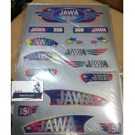 Наклейки JAWA 350 634 638 серебристые, комплект