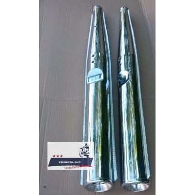 Глушители трубы выхлопные JAWA Ява 350 638 12 В, Люкс пара (Хороший Китай)