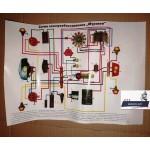 Схема электрооборудования для мотороллеров Муравей, Тула, Тулица, ТГ-200