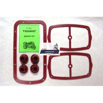 Набор красных (силиконовых) прокладок сальников Днепр (Мт) (3) - Белоцерковский завод РТИ
