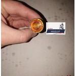 """Глазок в панель приборов оранжевый (ПД20-3803000) с лампочкой Днепр (Мт), Урал, К-750 (Касик) 1 шт. - ЧАО """"Сутисковский завод """"Авто электро аппаратура"""""""