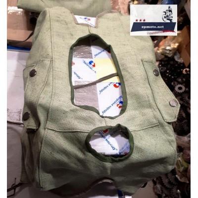 Набор брезентовый (5 видов изделий в комплекте) Днепр (Мт), Урал, К-750 (Касик): Тент коляски, чехлы сидения коляски 2 шт., чехол на фару, чехол на бензобак, чехол на запасное колесо
