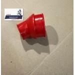 Патрубок воздушного фильтра - карбюратора JAWA 634 6 В (красный силиконовый)