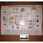 Схема электрооборудования для мотоциклов JAWA 634 6 В, JAWA 638 12 В