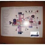 Схема электрооборудования для мотоциклов ИЖ Планета 3, Планета 4, Планета 5, Юпитер 3, Юпитер 4, Юпитер 5