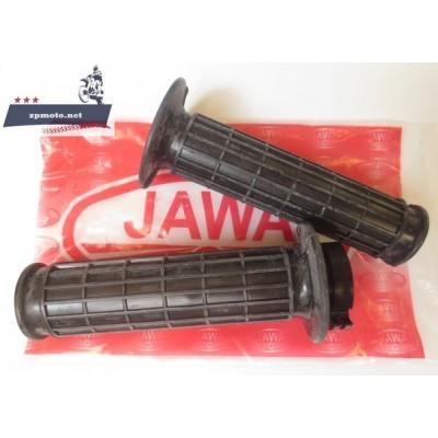 Ручки руля JAWA Ява 350 634 638 12 В 6 В 2 шт. (лето - резиновые, зима - пластмассовые)