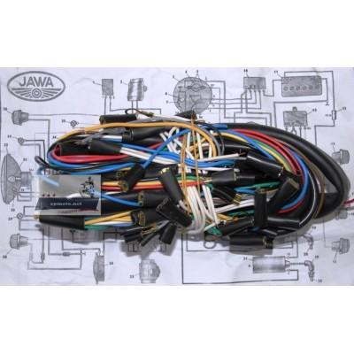 Проводка JAWA Ява 350 638 12 В (П) сечение провода 0.5 мм