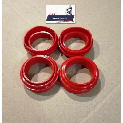 Резинки крепления фары JAWA 634 638 (4 шт.) Пыльники фародержателя (силиконовые Красные)